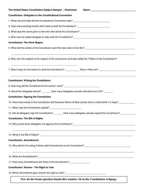 12 Best Images Of Articles Of Confederation And Constitution Worksheet  Us Constitution And