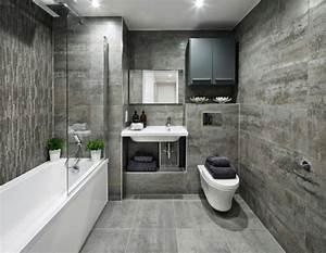 Waschbecken Kleines Badezimmer : kleine b der grau wandverkleidung fliesen wandnische waschbecken badewanne badezimmer ~ Sanjose-hotels-ca.com Haus und Dekorationen