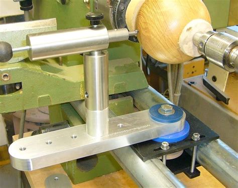 sphere jig  bed bar lathe woodturning wood