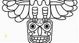Totem Coloring Pole Pages Faces Tiki Line Unique Drawing Printable Animal Divyajanani Getcolorings Clipartmag Getdrawings sketch template