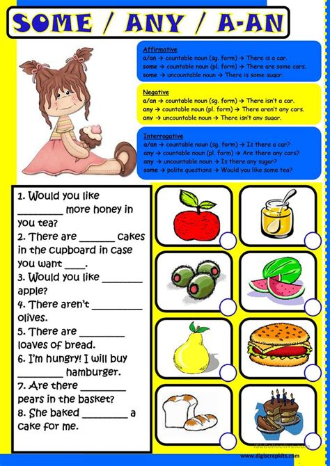 some any a an worksheet free esl printable worksheets made by teachers