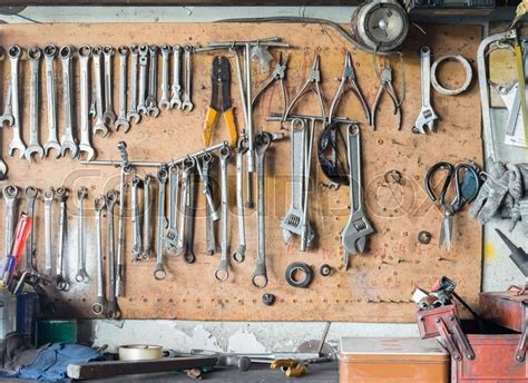 hanging tools on wall tools hanging on wall in workshop tool shelf against 4145