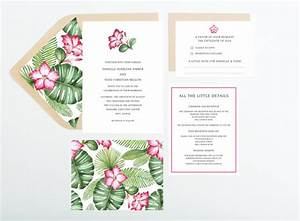 hibiscus tropical destination wedding invitation With bridal shower invitations for destination wedding