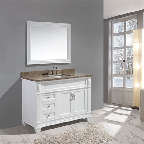 design element bathroom vanities design element 48 quot hudson single sink bathroom vanity w carrara top white dec059b w w j keats