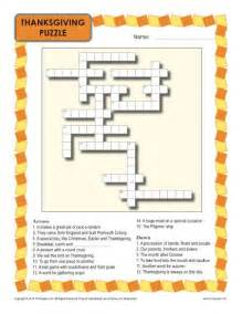 Printable Thanksgiving Crossword Puzzle 3rd Grade