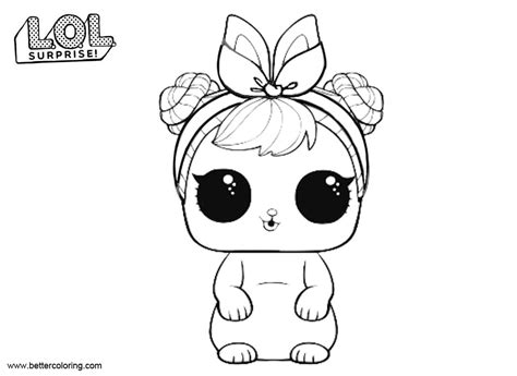 spf qt series  lol surprise doll coloring page colorear