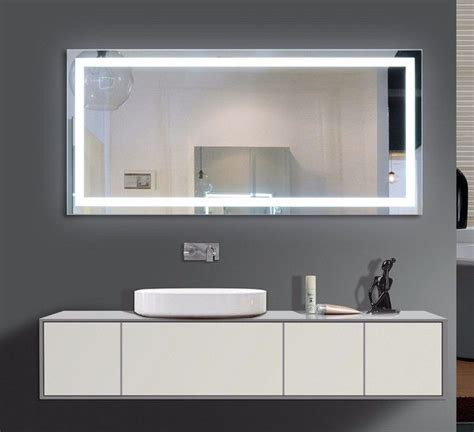 60 Inch Wide Bathroom Mirror by Illuminated Mirror Size H 60 X W 28 X D 2 Inches This