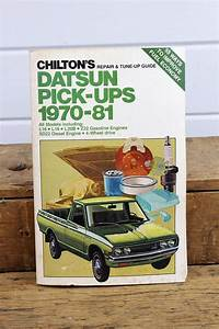 Vintage Datsun Pickup Truck Chilton Manual All Models 1970