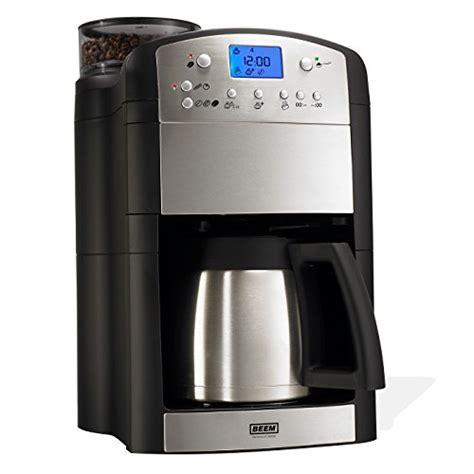 kaffeemaschine mit mahlwerk und tassenfunktion beem fresh aroma thermolux kaffeemaschine mit