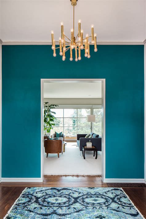 turquoise wall paint living room rustic  elephant