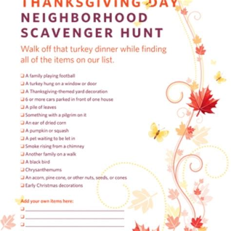 thanksgiving scavenger hunt pinlaviecom
