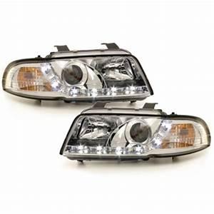 A4 B5 Scheinwerfer : dayline tagfahrlicht optik scheinwerfer chrom f r audi a4 ~ Kayakingforconservation.com Haus und Dekorationen