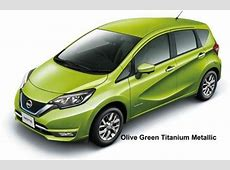 New Nissan Note Body colors, Full variation of exterior