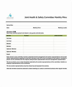 safety meeting minutes template 12 free sample example With monthly meeting minutes template