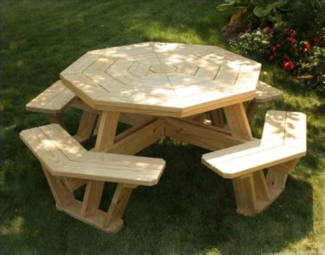 picnic table plans octagon easy  follow