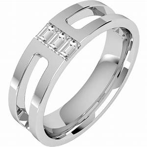 Diamond ring diamond set wedding ring for men in 18ct for Mens wedding rings baguette diamonds