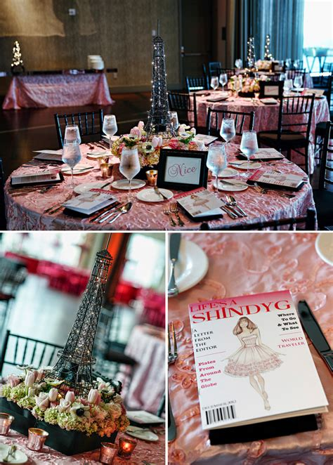 shayna bat mitzvah fashion travel pink tablecloth eiffel