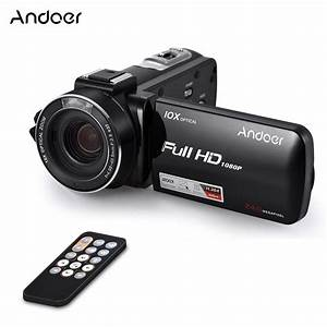 """Andoer HDV Z82 3"""" LCD Touchscreen Video Camera 1080P 24MP Digital Camcorder Remote Control Face ..."""