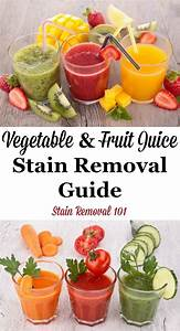 How To Remove Vegetable  U0026 Fruit Juice Stains