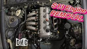 Ka24de Engine Removal Out Of A S13 Nissan 240sx