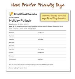 Halloween Potluck Signup Sheet Pdf by Thanksgiving Potluck Sign Up Sheet Printable Calendar