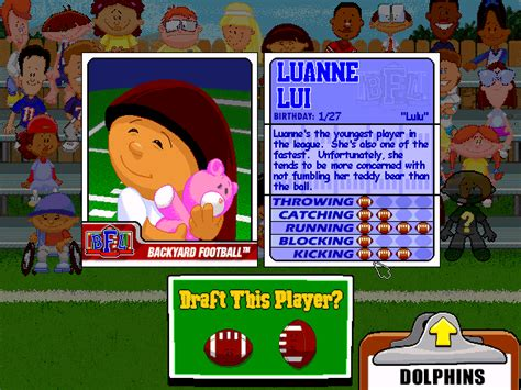 Backyard Football Characters - backyard football characters outdoor furniture design