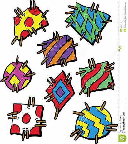 Patches Cartoon Vector Clipart Colourful Illustration Clip