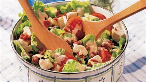 simple salad recipes easy club salad recipe from betty crocker