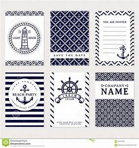Set Of Nautical And Marine Banners And Flyers. Cartoon ...