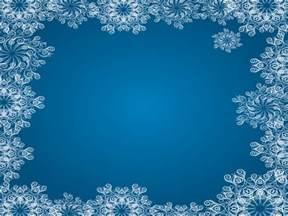 Blue Snowflake Border Frame