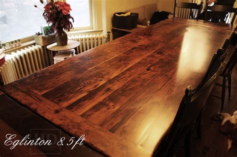 live edge dining room table reclaimed wood harvest table in toronto ontario