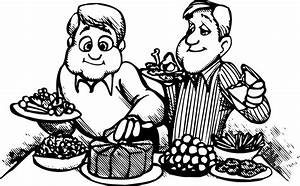 Dinner Party Clipart Black And White www pixshark com