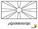 Flag Coloring Sheets Macedonia Flags Pages Country Yescoloring Myanmar Esteemed Macau sketch template