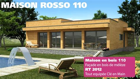 maison en bois prix cl 233 en natura rosso 110