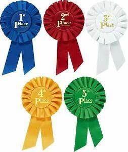 Rosette Premium Award Ribbons 1st 2nd 3rd 4th 5th Place ...