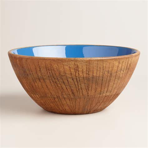 wood serving bowl coconut wood salad serving bowl world market 1148