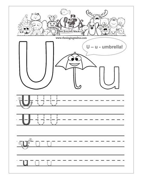 kindergarten worksheet letter u them and try to