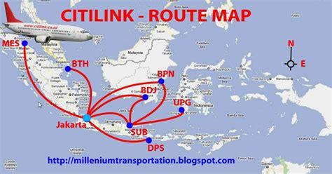 routes map citilink air routes map