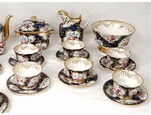 Service Tasse à Café : service caf th porcelaine valentine saint gaudens fleurs ~ Teatrodelosmanantiales.com Idées de Décoration