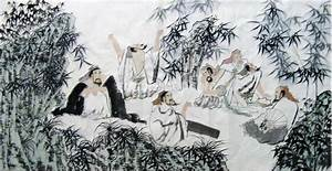 Chinese Bamboo Paintings,Seven Sages of the Bamboo Grove ...