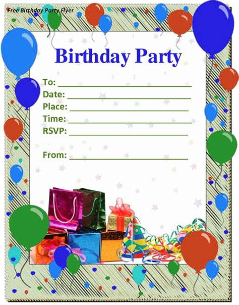 9+ Birthday Party Invitation Templates Free Word Designs