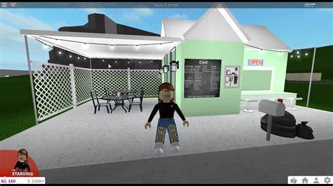 Decals for bloxburg cafe म फ त ऑनल इन व ड य. Welcome to bloxburg tiny cafe speed build - YouTube