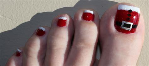 easy christmas toe nail designs christmas