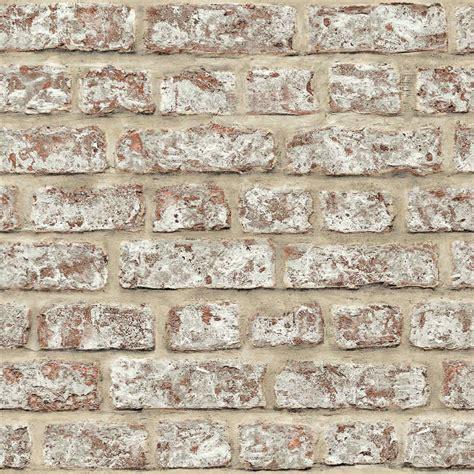 arthouse rustic brick wallpaper red decorating diy