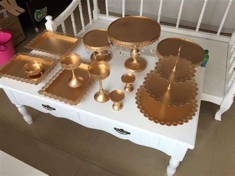 buy  pieces gold white cake stand