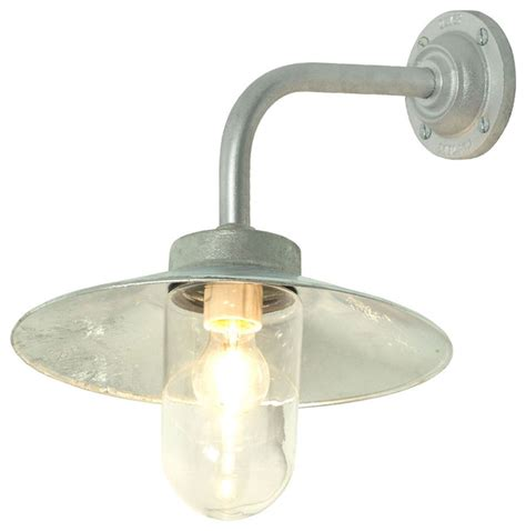 davey lighting exterior bracket light galvanized iron