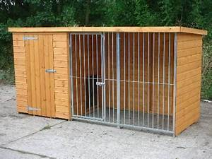 dog kennel and run with galvanised bar panel galvanised With 4 run dog kennel