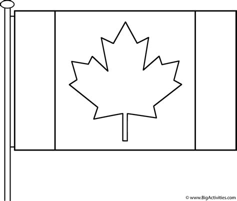 canadian flag  pole coloring page remembrance day