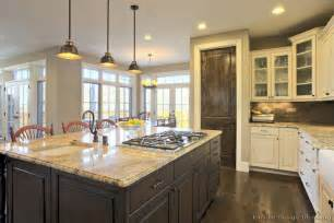 Black And Silver Vinyl Flooring by Pictures Of Kitchens Traditional Two Tone Kitchen