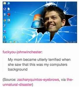 supernatural tumblr textpost cast misha collins gifset ...